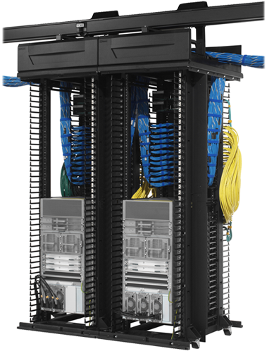 datacenter network equipment rack